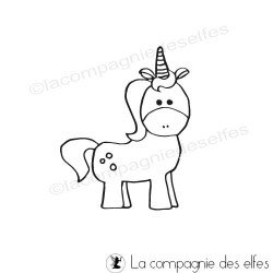 unicorn rubber stamp | tampon encreur licorne