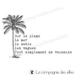 la plage palmier - tampon nm