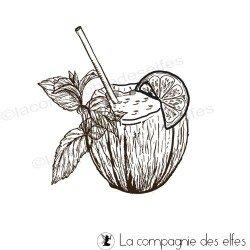 tampon noix coco| tampon botanique | tampon scrap cocktail