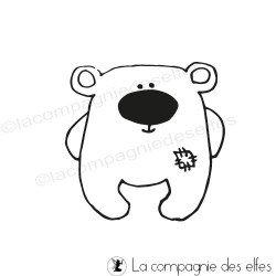 tampon kawaii ours - non monté
