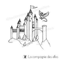 château médiéval tampon nm