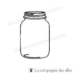 jar rubber stamp | jar stamp | glas stempel