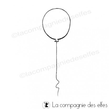 Tazmpon ballon enfant | balloon rubberstamp
