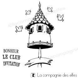 Tampon nichoir | tampon oiseaux | tampon nid