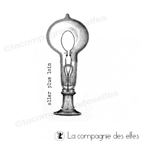 Tampon ampoule ancienne | tampon ampoule rétro
