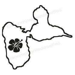 Tampon carte guadeloupe