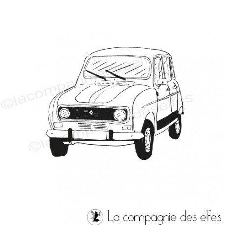 Tampon encreur renault | tampon Renault 4L