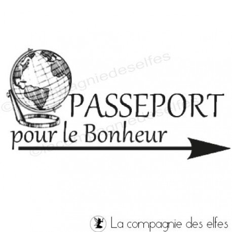 Tampon passeport | timbre passeport | tampon scrapbooking road trip