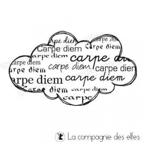 tampon nuage carpe diem | tampon nuage scrapbooking | tampon carpe diem