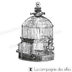 Tampon cage à oiseaux vintage- nm