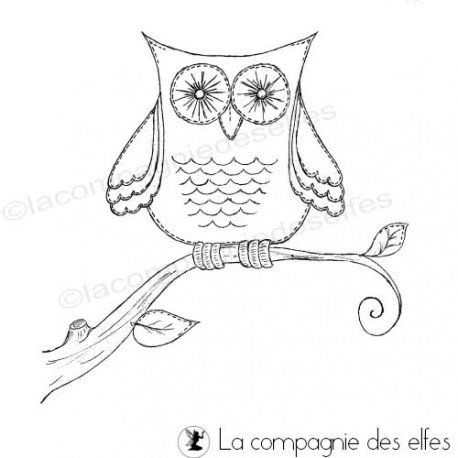 eule stempel | owl rubberstamp | tampon chouette