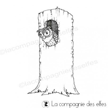 Stempel eule | owl rubber stamp
