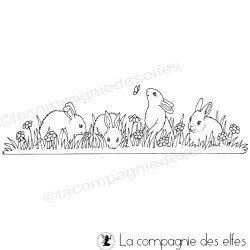 farandole de lapins tampon nm