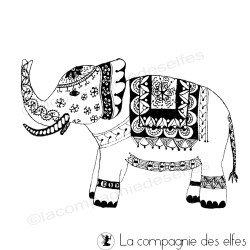 tampon bois éléphant inde