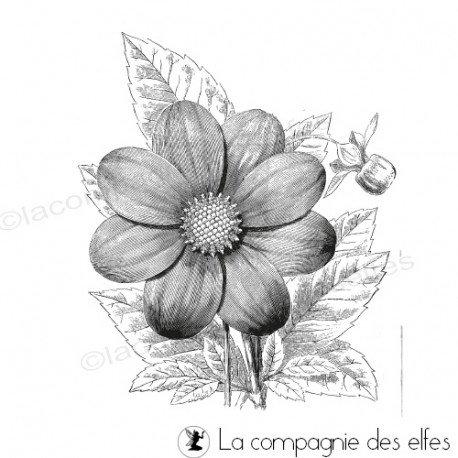 tampon fleur | grand tampon floral