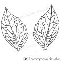 feuilles dahlia tampon nm