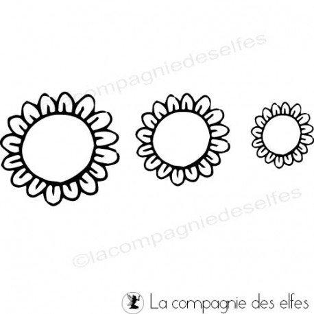 tampon fleur vide | tampon création fleur