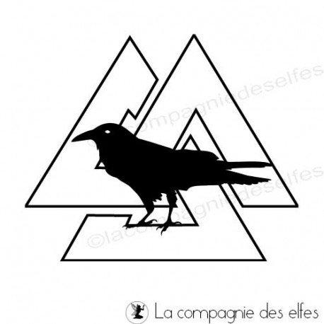 crow valknut rubber stamp | valnut rubber stamp