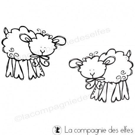 Lamb rubber stamp | stempel lamm | tampon scrapbooking pâques