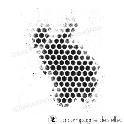 tampon nid abeille façon pochoir - nm