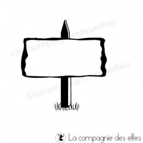 tampon encreur pancarte | bord travel stamp | tampon panneau