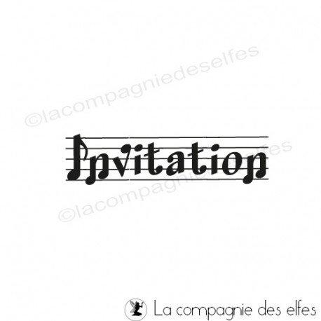 Tampon invitation musicale | tampon carterie invitation