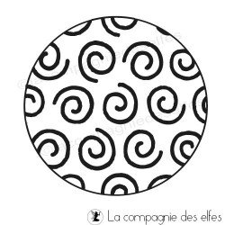 Tampon cercles | acheter tampon texture