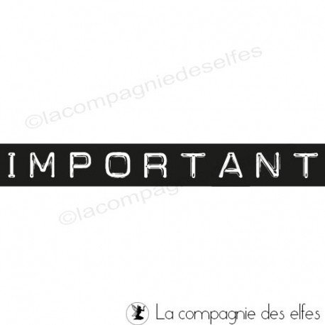 Carte poche 1/3 Important-tampon-nm-facon-dymo