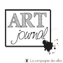 Tampon art journal | art journal rubber stamp |tampon mixed média.