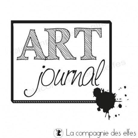 Tampon art journal | art journal rubber stamp |tampon mixed média.
