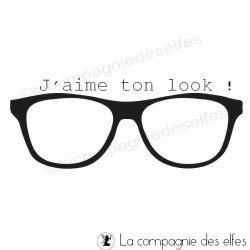 Tampon encreur look | tampon encreur lunettes