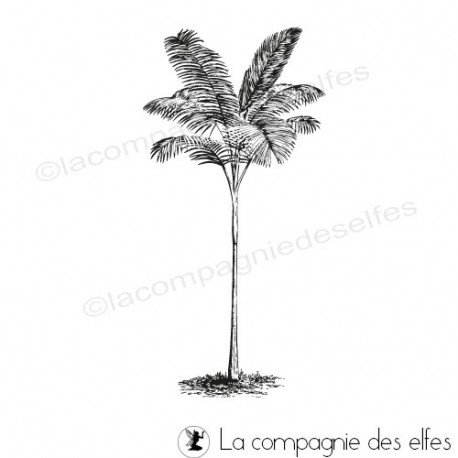 sand rubber stamp | sea rubber stamp |stempel |palm tree rubber stamp
