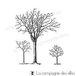 tampon fond arbres