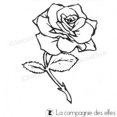 Tampon fleur | tampon encreur rose
