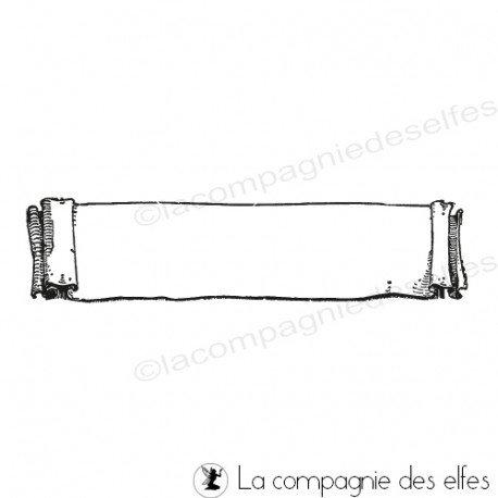 Tampon encreur bannière | tampon scrapbooking étiquette