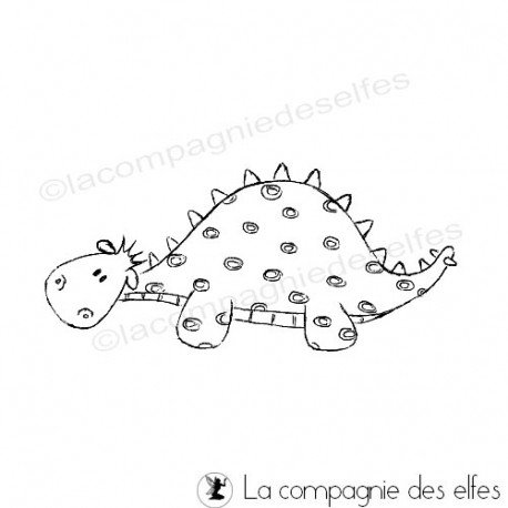 Tampon scrapbooking dinosaure | dinosaur rubber stamp