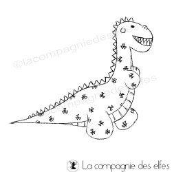 Tampon scrapbooking dinosaure