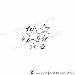tampon petit modèle étoiles - non monté