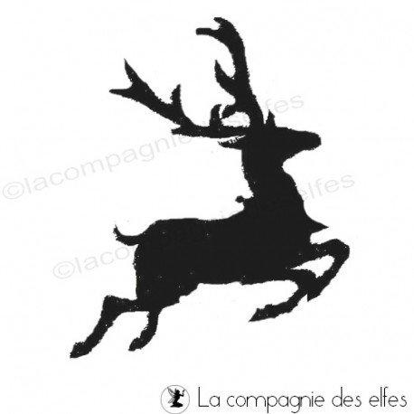 tampon renne | reindeer rubber stamp