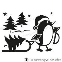 tampon pingouins luge - nm