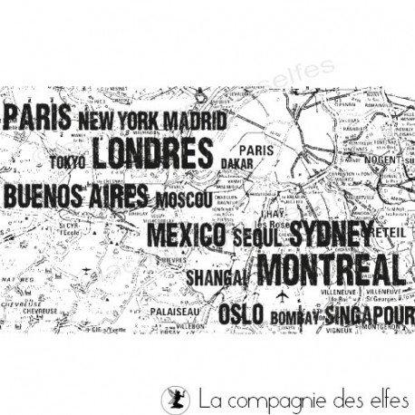 Tampon carte monde | tampon carte routière