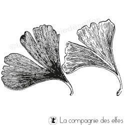 feuilles ginko biloba - tampon nm