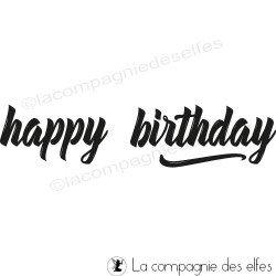 tampon happy birthday | happy birthday stamp