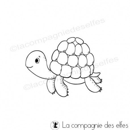 turtle rubber stamp | tampon encreur tortue