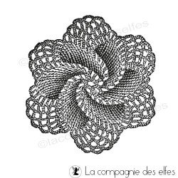 fleur dentelle crochet tampon nm