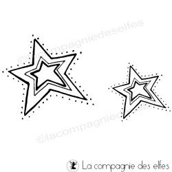 tampon scrapbooking noël | christmas star rubber stamp
