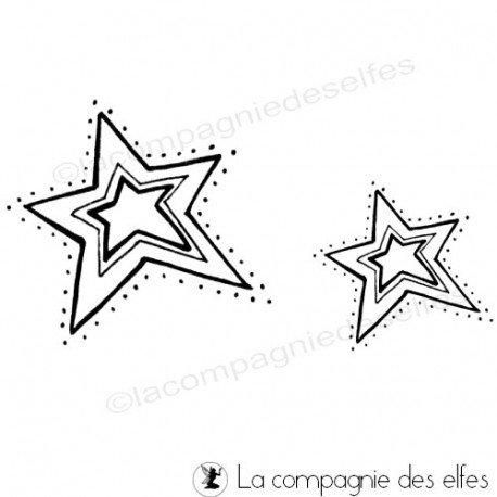 tampon scrapbooking noël | christmas star rubber stamp
