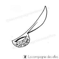tampon sabre | tampon encreur épée