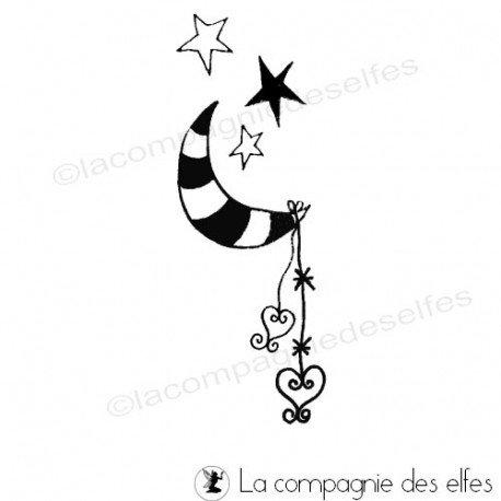 Tampon encreur amour   tampon encreur lune