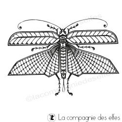 tampon insecte papillon de nuit